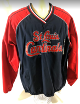 St. Louis Baseball MLB Cardinals Large Pullover Windbreaker Jacket Lined NWT - $72.43