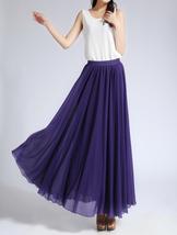 Purple Chiffon Skirt High Waisted Long Chiffon Skirt Wedding Chiffon Skirts image 2