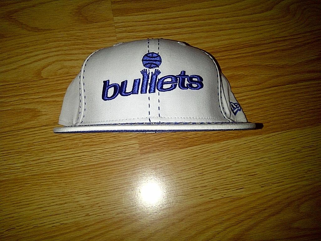 New Era 59fifty NBA Washington Capital Bullets White Blue Fitted Cap Hat 7-3/4
