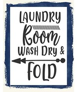 Laundry Room Wash Dry & Fold Laminated Sarcastic Silly Laundry Sign sp3227 - $8.86