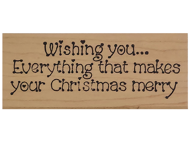 Darcie's Country Folk Merry Christmas Wood Mounted Rubber Stamp #0951