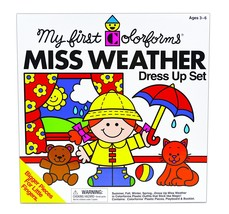 My First Colorforms - Miss Weather Dress Set Teaching Preschoolers How T... - $17.36
