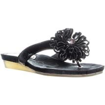 Coach Skye Open Toe Thong Sandals, Black, 5 US - $32.63