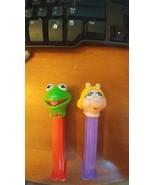 PEZ DISPENSERS MISS PIGGY AND KERMIT - $9.49