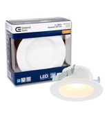 Commercial Electric 4 in. White Integrated LED Recessed Trim, T45 - $11.83