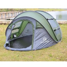 Camping Tent Large Automatic Open Throwing Pop up Windproof Waterproof 4... - $181.57