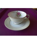 Fuji cup and saucer (Rosette) 2 available - $4.75