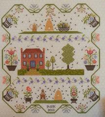 Berkshire Bee Hives cross stitch chart Rosewood Manor
