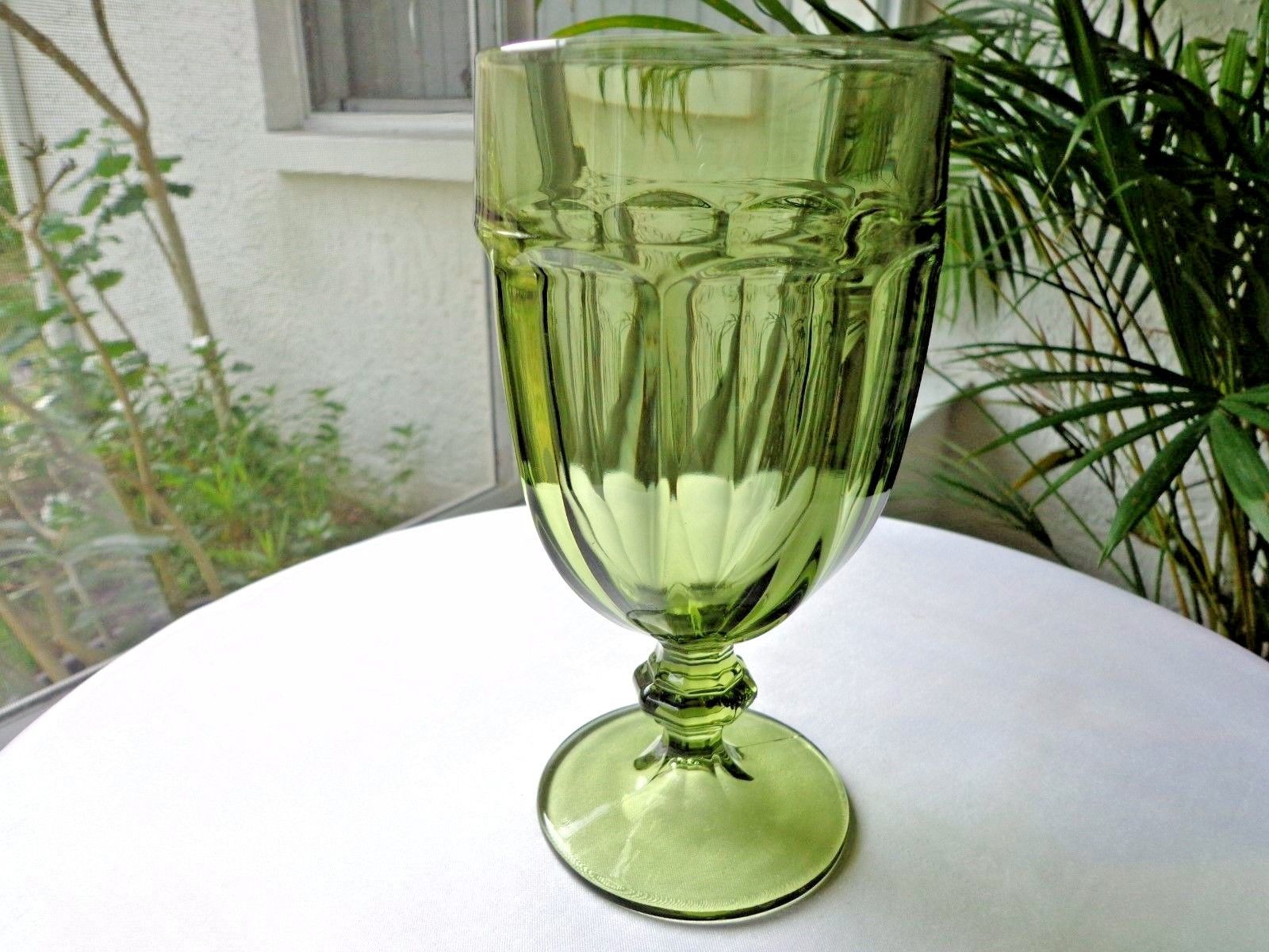 Primary image for Libbey Gibraltar Olive Green Iced Tea Glass Made in the USA Multiple Avail