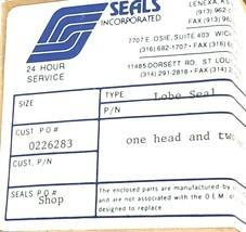 NIB SEALS INCORPORATED SEAL KIT (1) HEAD AND (2) SEATS