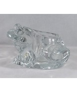 Collectible Indiana Glass Crystal Frog Votive Tealight Candle Holder Pap... - $18.04