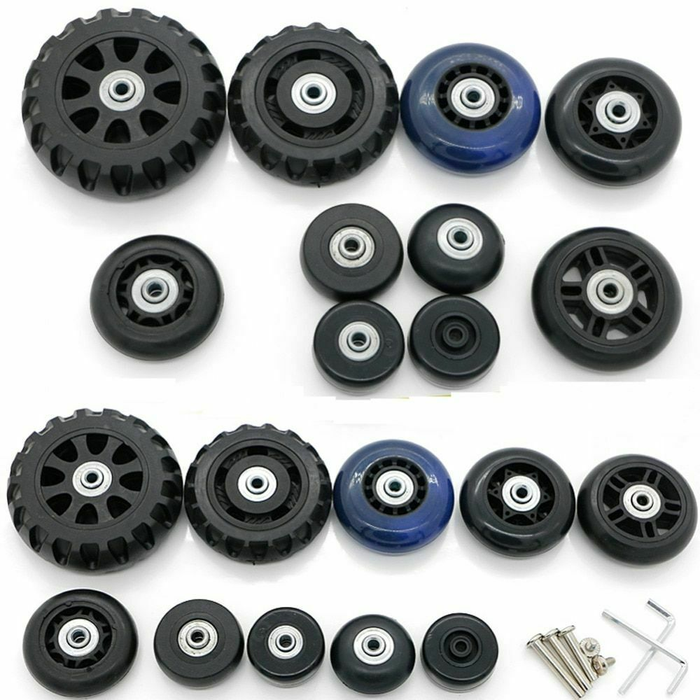 Suitcase Luggage Replacement Wheels 1 pcs Set Repair Carry Spinner Roller Bag
