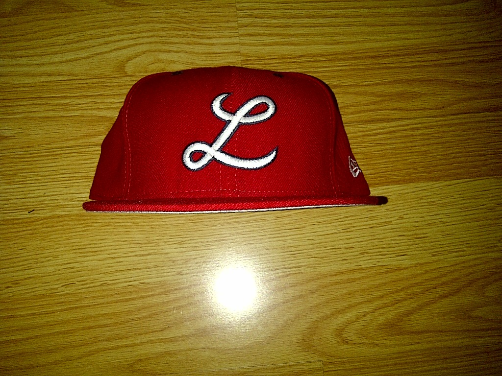 RARE New Era 59fifty NCAA L Script Logo Knights Red Fitted Cap Hat 7-3/4