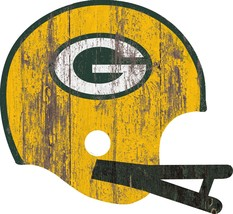 Green Bay Packers Sign - Large Wood Helmet**Free Shipping** - $40.66