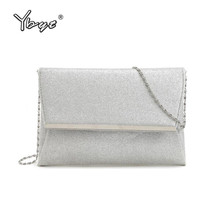 YBYT brand 2017 new fashion silver sequined chain evening bags hotsale l... - $389,97 MXN