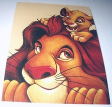 Commemorative Unused Prepaid Postcard-MUFASA And SIMBA-Lion - $10.00