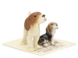 Hagen Renaker Miniature Dog Beagle and Puppy Ceramic Figurine Set image 6