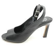 Vince Camuto Womens Reteema Sandals Black Leather Buckle Block Heels 7.5 M - $39.59