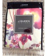 J. QUEEN NEW YORK FLORAL FABRIC SHOWER CURTAIN NWT - $27.99