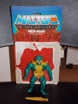 Vintage 1981 Masters Of The Universe Mer-Man Figure Complete With Cardback - $19.99
