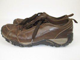 Merrell Men's Dark Earth Performance Shoe Brown Leather Lace Up Size 13 EUR 48 - $37.05