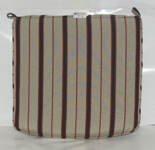 Hanamint CAC7522 4129D Dapper Gray Stripe Dining Cushion
