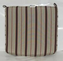 Hanamint CAC7522 4129D Dapper Gray Stripe Dining Cushion image 1