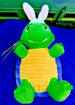 New Hallmark Whirling Twirling Turtle Techno Plush Easter Bunny Ears - $19.25