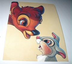 Commemoritive Unused Prepaid Postcard-BAMBI And Thumper Stam - $10.00