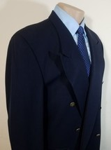 Portfolio Perry Ellis Mens Sport Coat Double Breasted 100% Wool 429016 Made Usa - $19.95