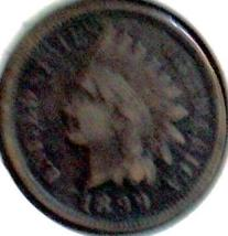 1899 INDIAN Head CENT - BRONZE Issue - BTR pre 1900 DATE F+ - $4.50