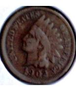 1902  INDIAN HEAD CENT  BRONZE - SCARCE BTR DATE DECENT CIRC - $4.50