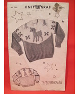 Vintage Knit O Graf Knitting Pattern CHILDRENS Size 2 - 6 Pullover Sweat... - $5.99