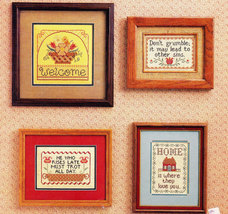 CROSS STITCH COUNTRY LOVE SAMPLERS WELCOME  DON'T GRUMBLE - $3.50