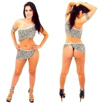 Sexy Cave Girl Lingerie Jungle Animal Print Sex Thong Erotica Brazil Hal... - $13.99