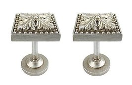 Urbanest Set of 2 Elmore Drapery Medallion Holdback, Pewter - $29.39
