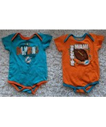 LOT OF 2 NFL Miami Dolphins Infant Baby Bodysuit One Piece Creeper sz 24... - $19.98