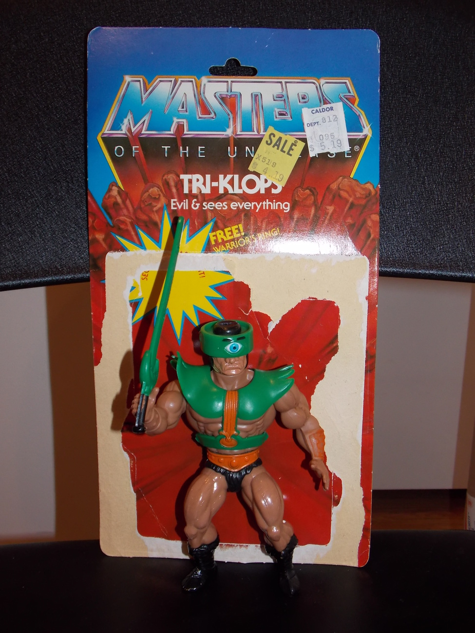 Vintage 1981 Masters Of The Universe Tri-Klops Figure Complete With Cardback