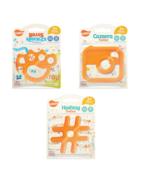 3 Pack Baby Teething Toys - Ulubulu - Unisex - Brass Knuckles, Hashtag, ... - $19.99