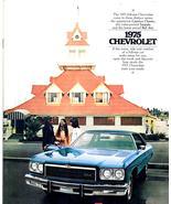 1975 Chevrolet Impala Caprice Caprice Bel Air Deluxe Sales Brochure - $2.00