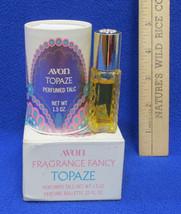 Vintage Avon Topaze Perfumed Talc 1.5 oz & Rollette Bottle .33 oz - $11.29