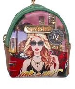 Miami Night keychain Cute Designer Mini Backpack Keychains Keyring - $16.99