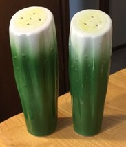 Tall Cucumber Salt & Pepper Shakers Japan - $7.69