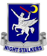 THE US ARMY NIGHT STALKERS INSIGNIA POSTER 24 X 24 Inches Looks Awesome! - $19.94