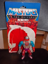 Vintage 1984 Masters Of The Universe Roboto Figure With Cardback - $19.99
