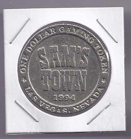 Sams town gaming token enclosed
