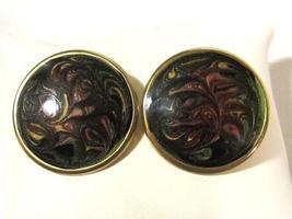 Vintage jewelry enamel earrings - $3.50