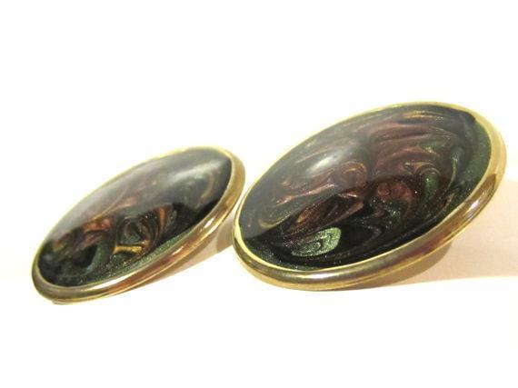 Vintage jewelry enamel earrings