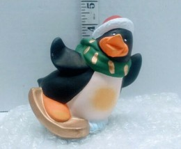 Vintage Skiing Penguin Figurine 1998 Christmas Holiday Decor By  Artmark  - $12.86