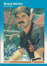 Bruce Bochy 1987 Fleer Autograph Card #411 Padres Giants - $14.89